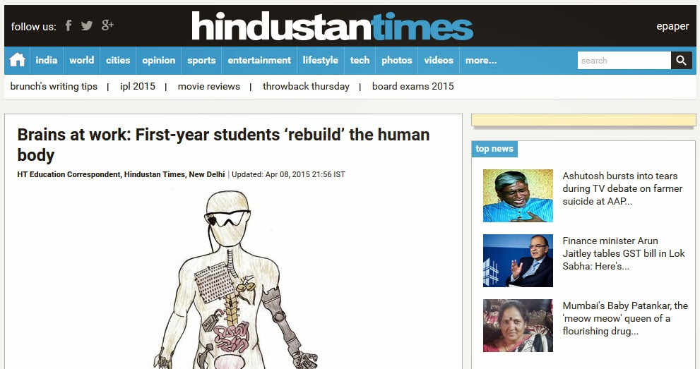 http://www.hindustantimes.com/greatcareers/students-rebuild-the-human-body/article1-1335019.aspx