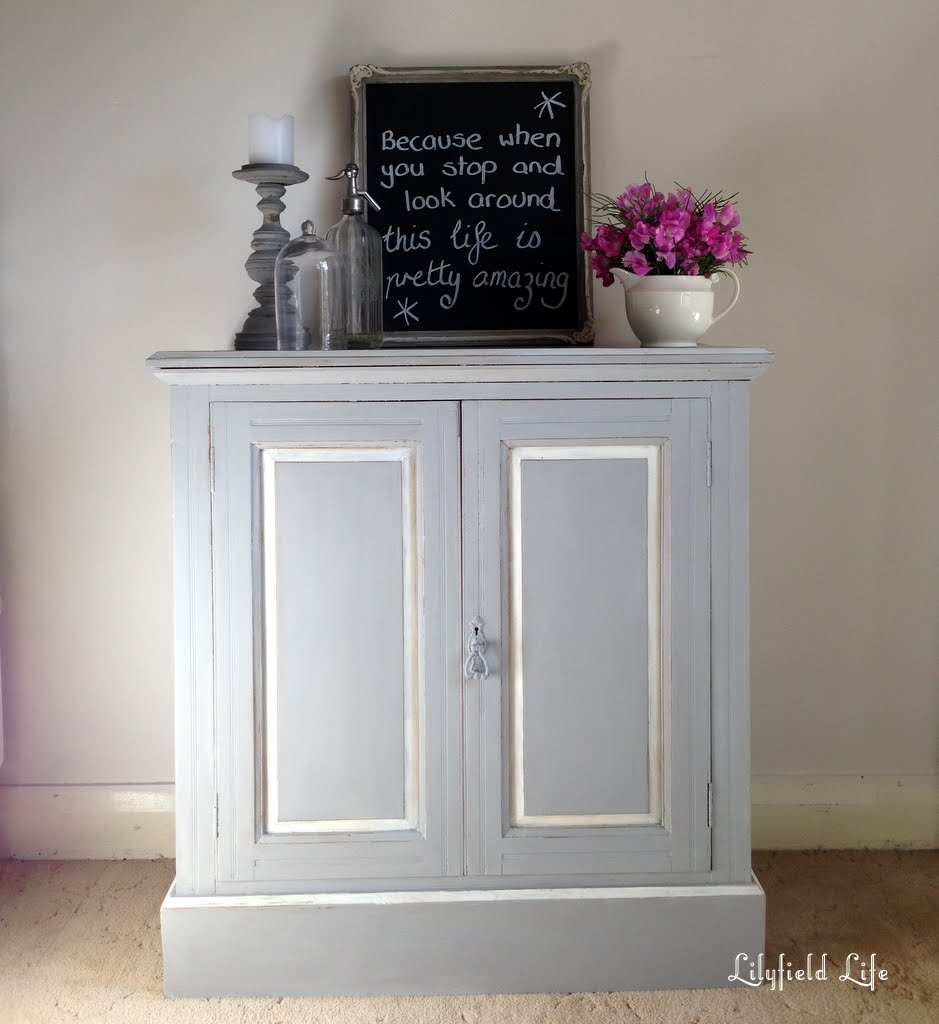 Lilyfield Life: Vintage Grey Cabinet For A Marble Bathroom
