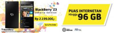 Indosat Gelar Pre-Order BlackBerry Z3 'Jakarta Edition