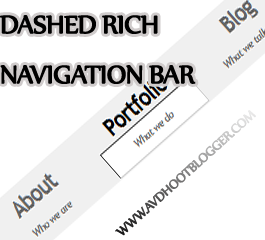 Dashed Rich Navigation Menu Bar Widget For Blogger