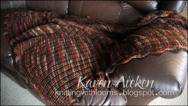 Zig Zag Stitch Loom Knitting : Knitting with looms finished lap afghan