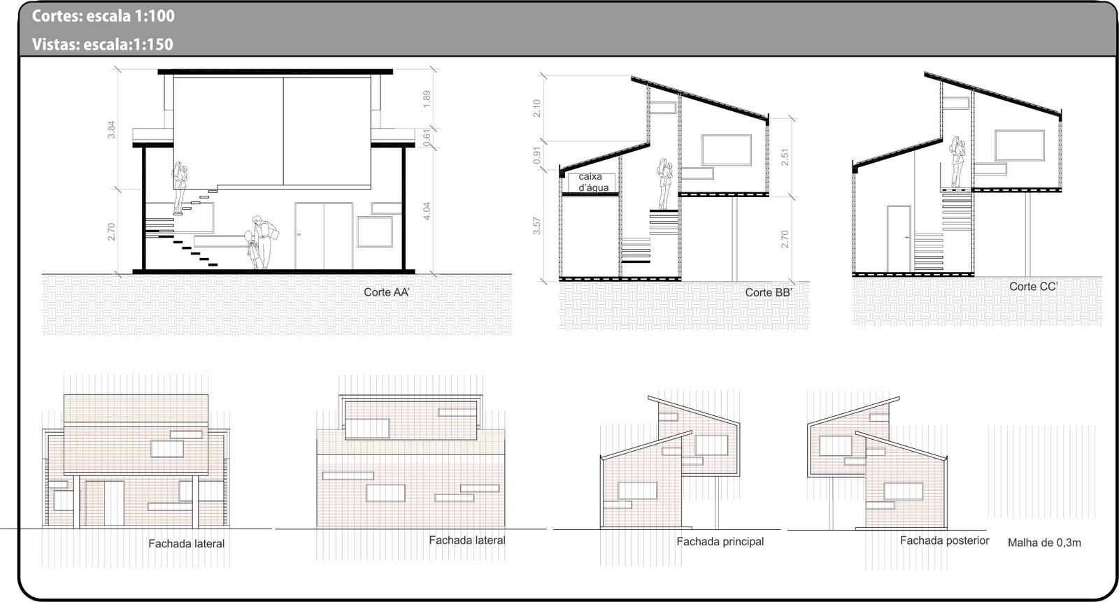 Imagens de #71665A Tema 3: Habitação Unifamiliar: Projeto Final 1600x861 px 3472 Bloco Autocad Banheiro Corte