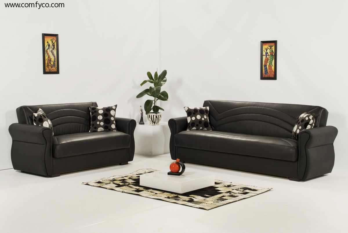 C mo embellecer su living room con muebles de cuero negro for Muebles diseno living