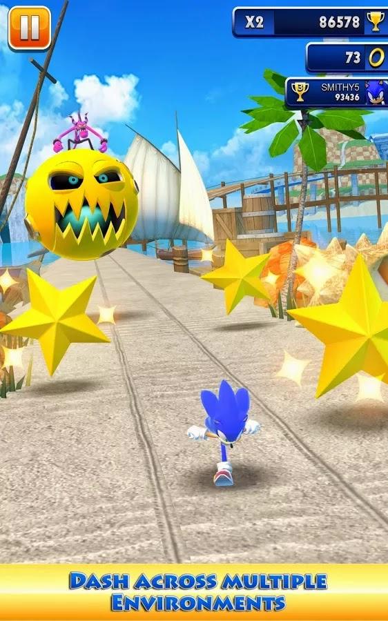 Android Sonic Dash Apk resimi 1