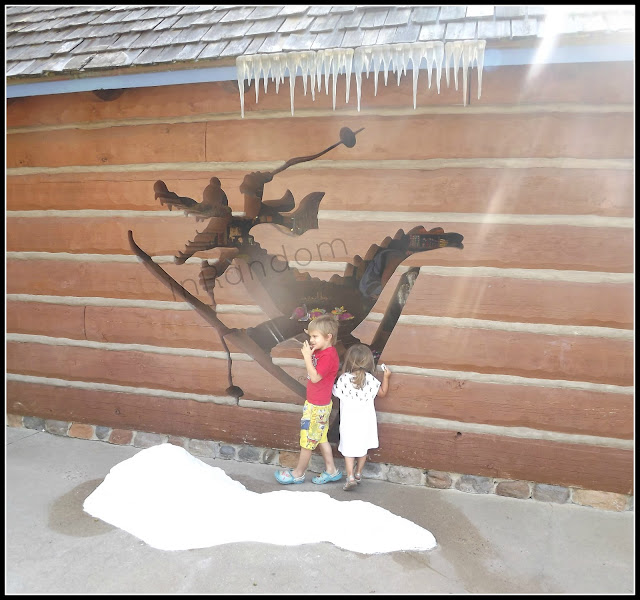 kids with the snow at Disney's Blizzard Beach