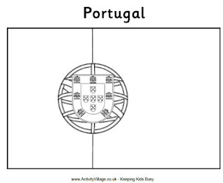 Colorir e pintar portugal for Portugal flag coloring page