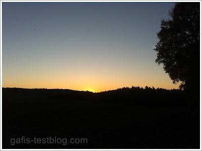 Sonnenuntergang 1. November 2015