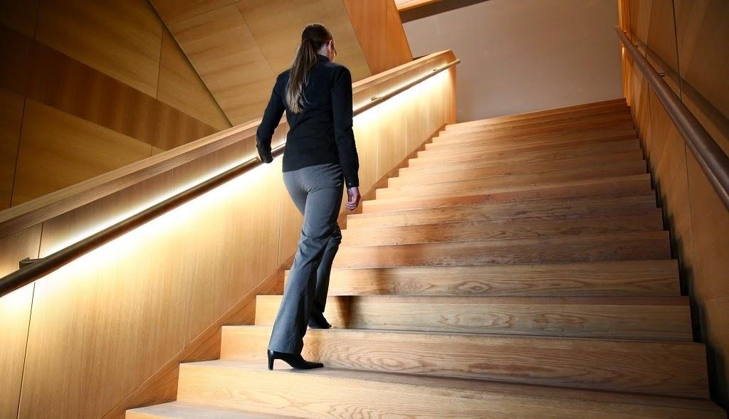 iluminar escaleras con leds, como iluminar escaleras, luces led baratas, leds escaleras, luces led accesos jardín