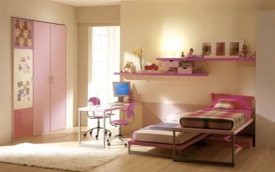 Dormitorios con muebles rosa para ni as dormitorios con for Recamaras rosas