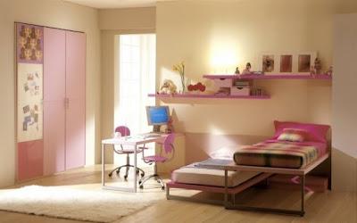 cuarto niñas muebles rosa