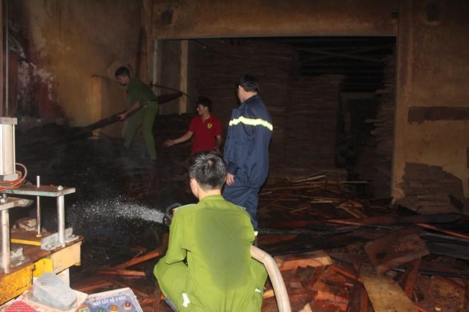 Gia Lai: Cháy xưởng gỗ Công ty Hiệp Lợi