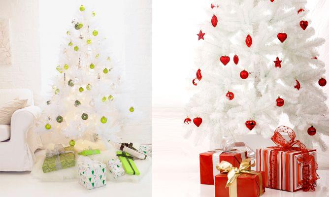 La casita decorada - Arboles de navidad blancos ...