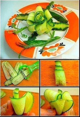 Как сделать украшения из овощей Фото МК и идеи