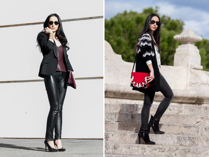 Blogger valenciana con Chaqueta de lana tricot navajo y jeans