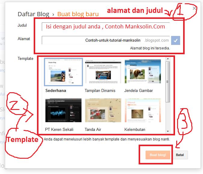 Cara Membuat Blog Gratis Full tutorial mengubah dan mempercantik tampilan Blog