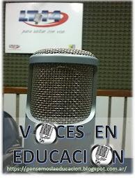 """""""La Radio en la Escuela""""  VOCES EN EDUCACIÓN"""
