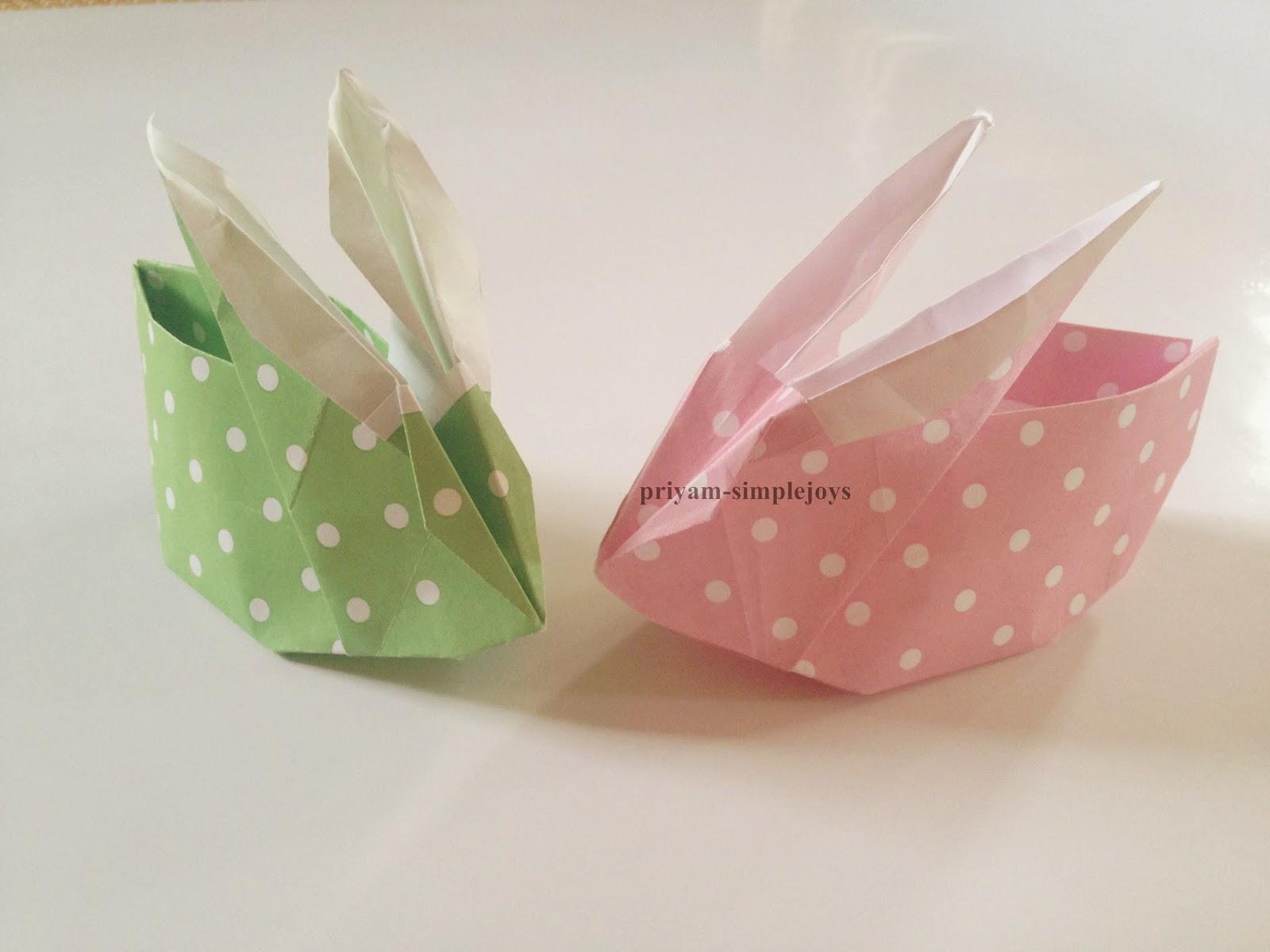 simplejoys origami rabbit basket