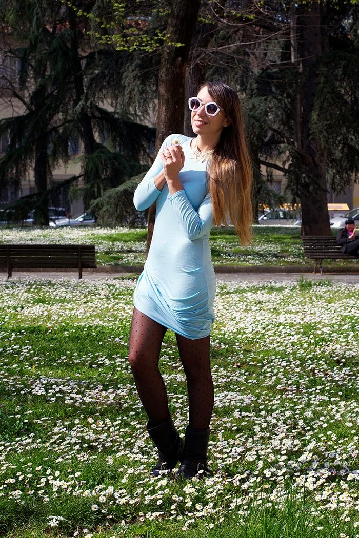 vestito celeste