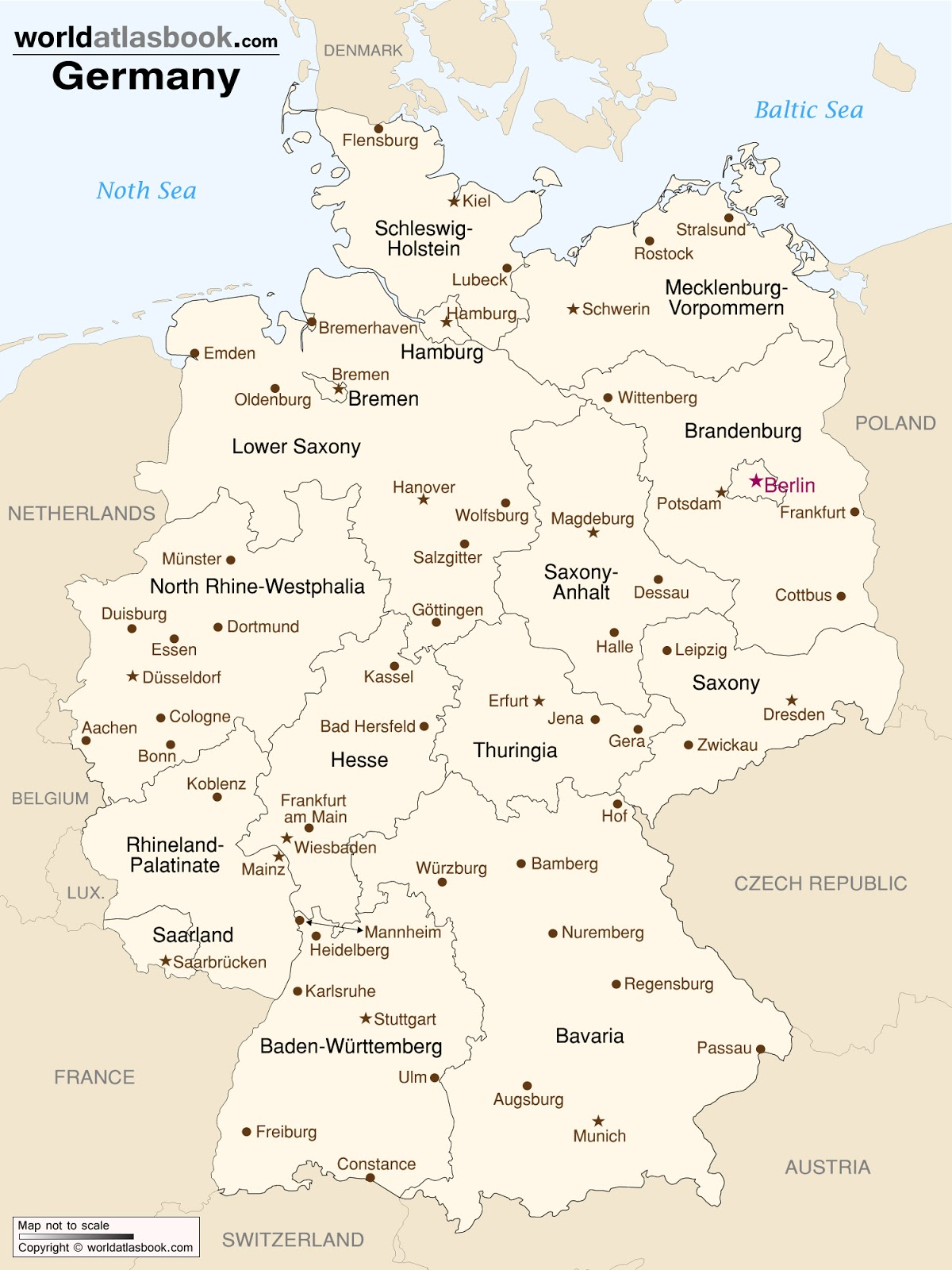 Frau Bevins Adventures In Germany The Details - Germany map main cities