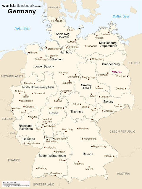 Frau Bevins Adventures In Germany The Details - Germany map with major cities
