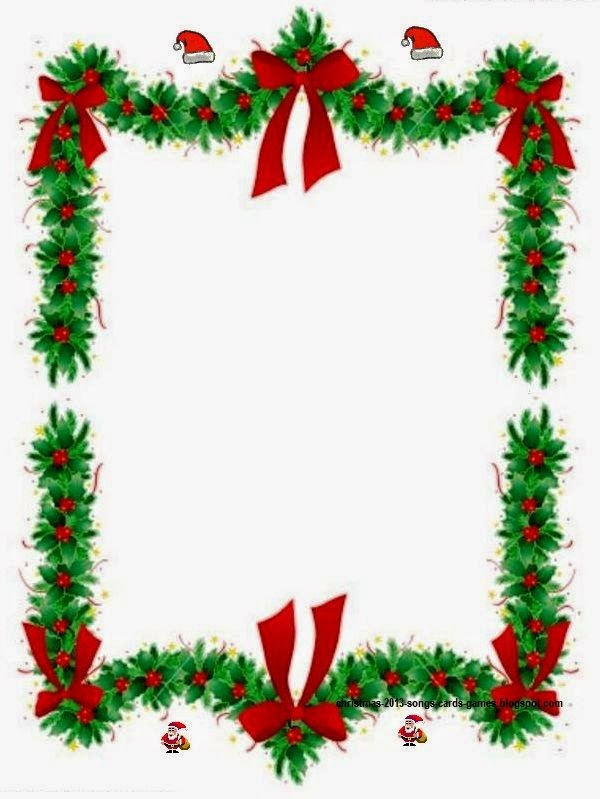Merry Christmas Flower Clipart Borders For Kids