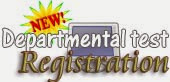 Departmental Test registration