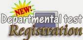 Departmental Test registration