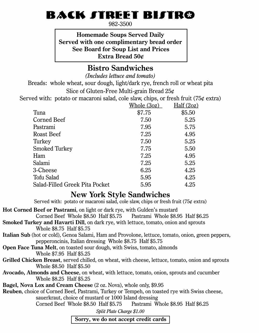 menu • page 1