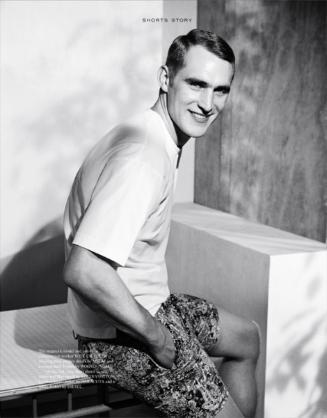 Will Chalker in 'Shorts Story' for Fantastic Man Magazine SS14