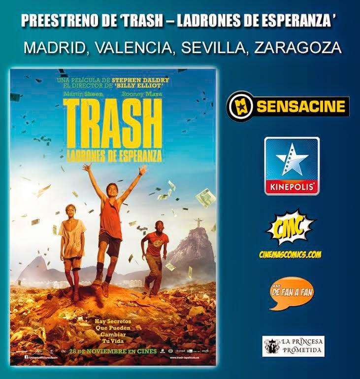 """Concurso Preestreno """"Trash"""""""
