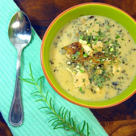 ... By eRecipeCards: Rosemary Chicken, Mushroom and Wild Rice Soup