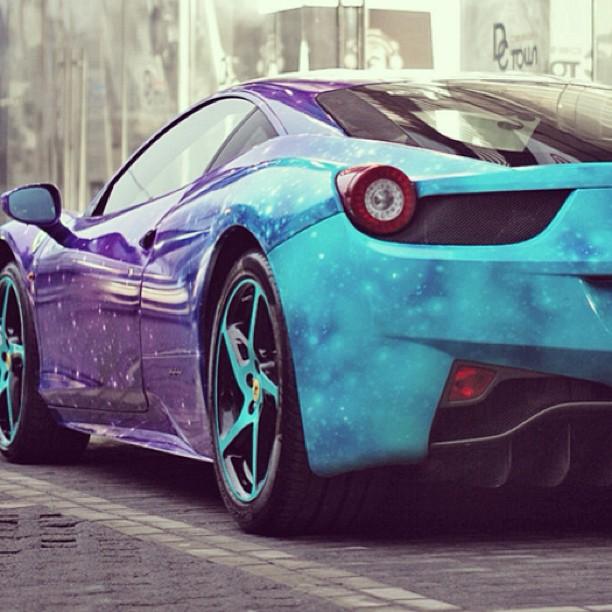 Ferrari 458 Italia In Galaxy Wrap