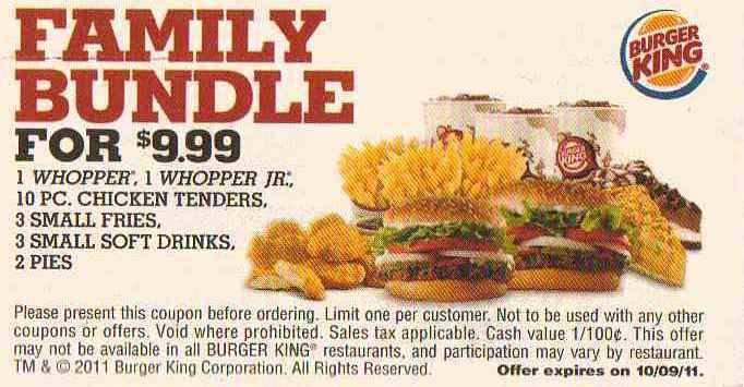Burger king discount coupons india