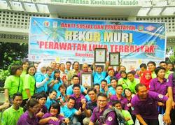 Rekor MURI Perawatan Luka Terbanyak 2013, Manado