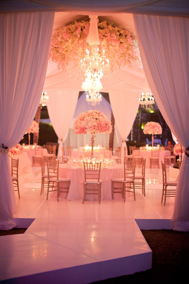 Just bee fashion wedding reception canopies and tents for Romantic wedding reception ideas