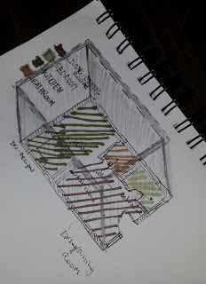 next step for axonometric plan