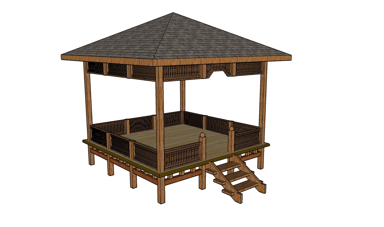 Free gazebo plans how to build a gazebo for Patio plans free