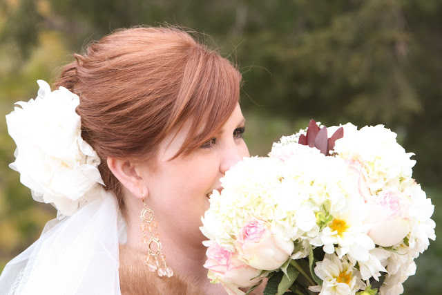 bride bouquet shot