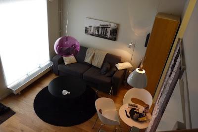 Novotel lägenhetshotell Göteborg, interiör vardagsrum. foto: Reb Dutius