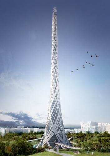 taiwan tower competition by aedas r&d