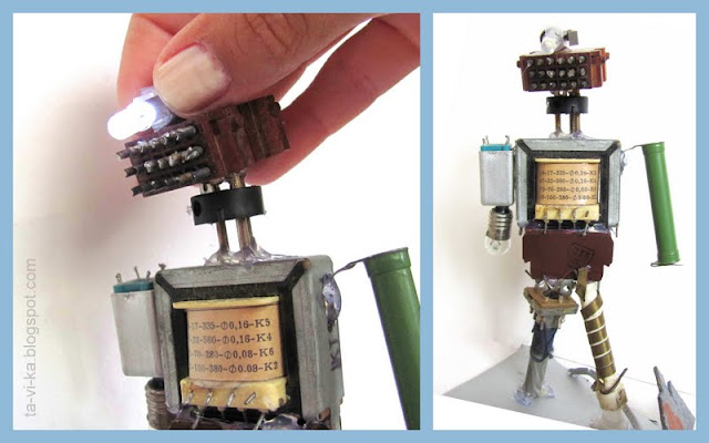 робот из металлолома