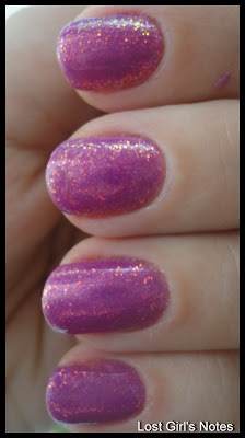 kleancolor fuschia holo swatches