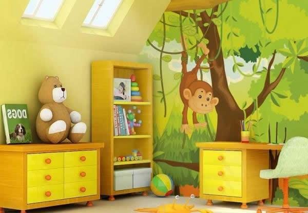 Decoraci n estilo safari en dormitorio del beb - Ideas decoracion habitacion bebe ...