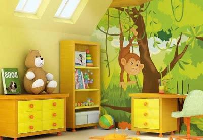 decoración safari cuarto bebé