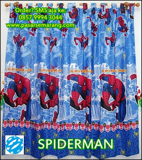Gorden Spiderman grosir hordeng gorden spiderman murah semarang