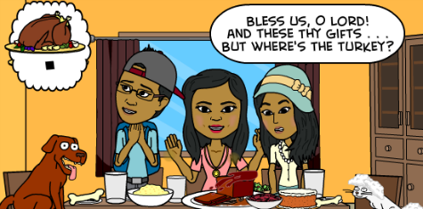 Thanksgiving meal, family, funny comic, family blog