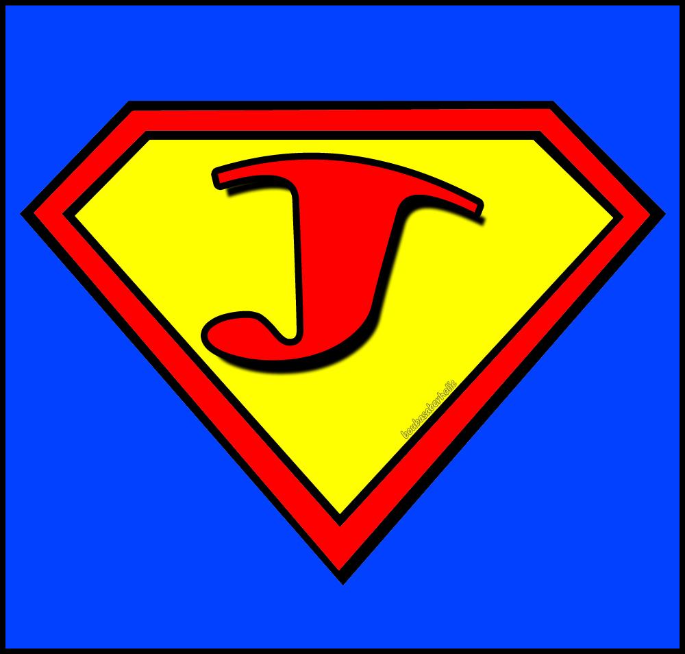 bouba saberholic letters in superman logo style
