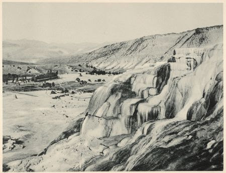 """Hotel Valley, From the Hot Springs"" in Yellowstone National Park in Photo-Gravure"