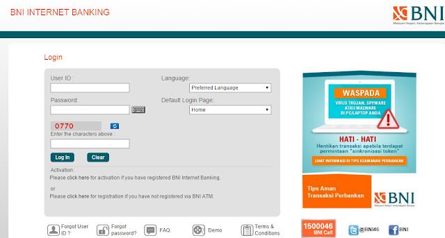 Cara Menggunakan SMS Dan Internet Banking Bank BNI