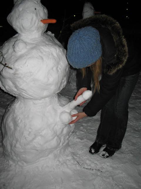 Гадание на снеговике